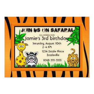 Safari Birthday Party Invitations