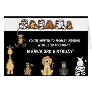Safari Birthday Party Invitations Greeting Card