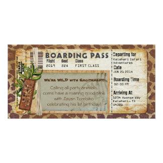 Safari Boarding Pass Card