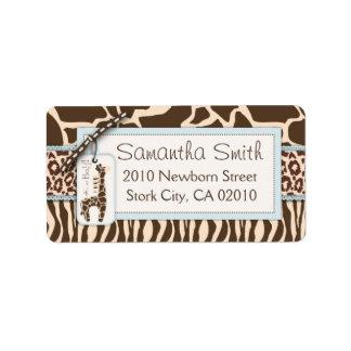 Safari Boy Address Label