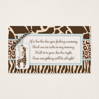 Safari Boy Gift Tag B Business Card