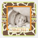 Safari Boy Green Photo Sticker