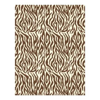 Safari Boy O Dual-Sided Paper Zebra A 21.5 Cm X 28 Cm Flyer