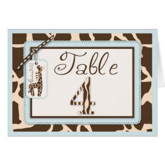 Safari Boy Table Card 4