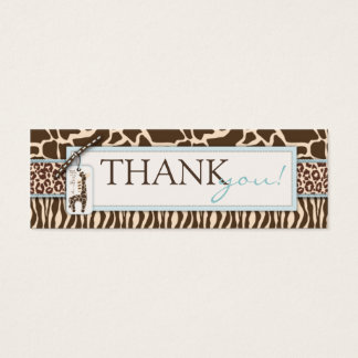 Safari Boy TY Skinny Gift Tag Mini Business Card