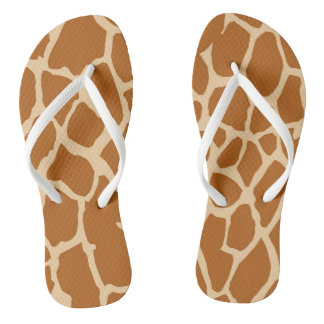 Safari Brown Zebra Skin Pattern Flip Flop