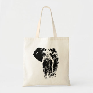 Safari Bull Elephant tote bag