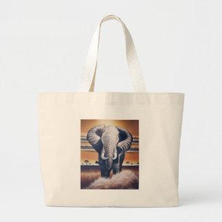 Safari Elephant Jumbo Tote Bag