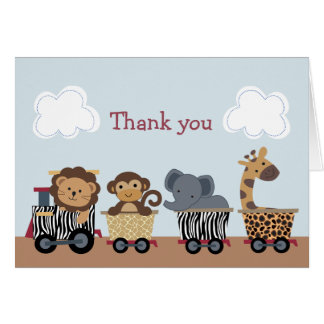Safari Express Animal Train Note Cards