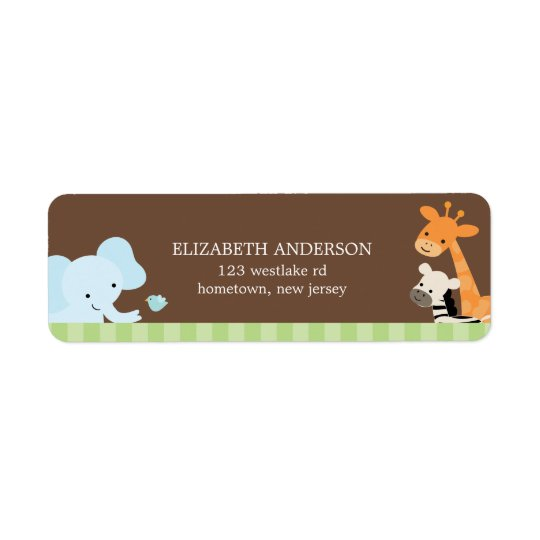 Safari Friends Address Labels