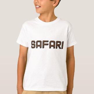 Safari Funny Wildlife Leopard Fur Typography T-Shirt