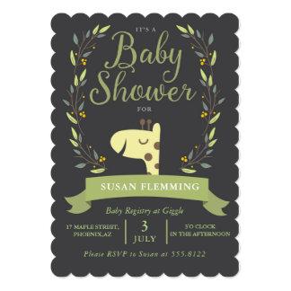 Safari Giraffe Baby Shower Invitation