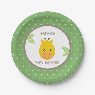Safari Giraffe Baby Shower Plates