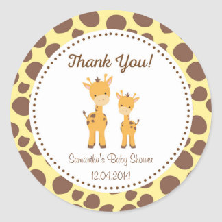 Safari Giraffe Baby Shower Sticker