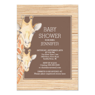 Safari Giraffe Neutral Baby Shower Card