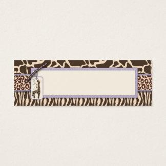 Safari Girl LAV Skinny Gift Tag 2 Mini Business Card