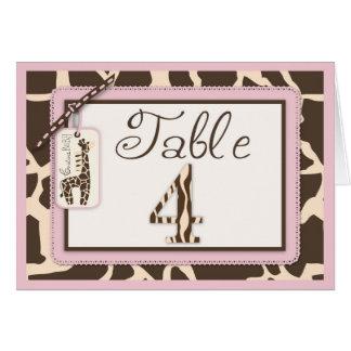 Safari Girl Table Card 4