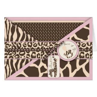Safari Girl TY Card 2