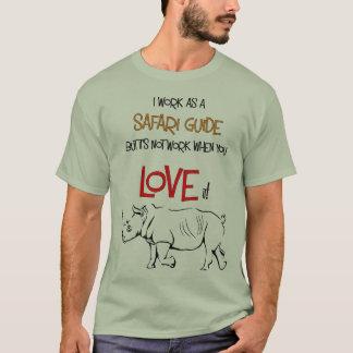 Safari Guide White Rhino Tshirt
