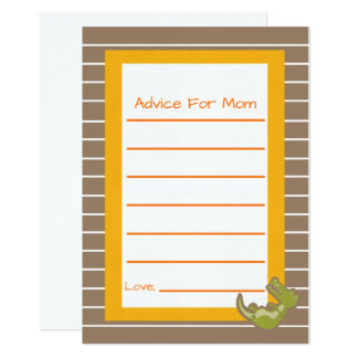 Safari Jungle Advice for Mom  Cards Baby Shower