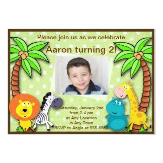 Safari Jungle Animal Birthday or Shower Invitation