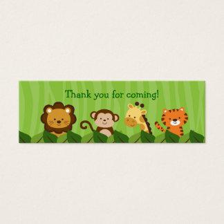 Safari Jungle Animal Goodie Bag Tags Gift Tags Mini Business Card