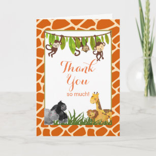Jungle Theme Thank You Cards Zazzle Com Au