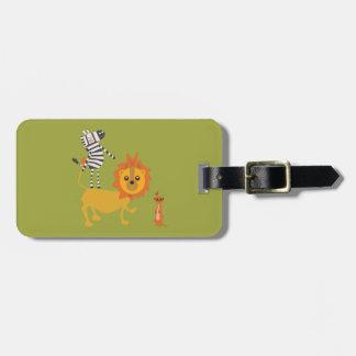 Safari Jungle Animal Unique Luggage Tag