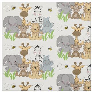 Safari Jungle Animals Baby Nursery Kids Room Fabric