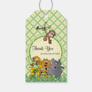 Safari Jungle Baby Animals Baby Shower Thank You Gift Tags