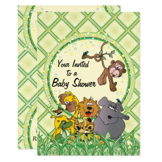 Safari Jungle Baby Animals Card