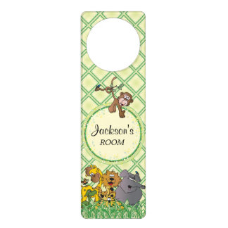 Safari Jungle Baby Animals Door Hanger