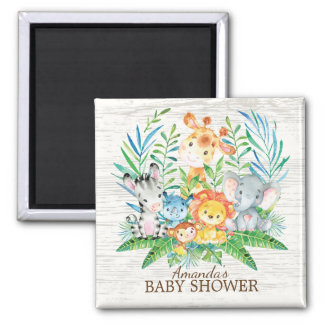Safari Jungle Baby Shower Favor Magnet