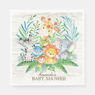 Safari Jungle Baby Shower Paper Napkins Paper Napkin