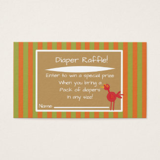 Safari Jungle Diaper Raffle Invitation Insert Game