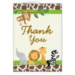 Safari Jungle Thank you card Birthday Baby shower