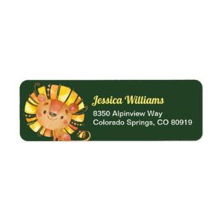 Safari Lion Return Address Label
