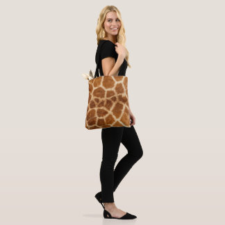 Safari Lovers Giraffe Print Tote Bag