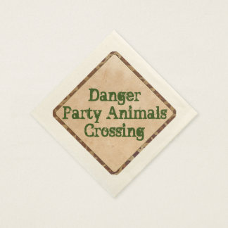 Safari Party Napkins Danger Paper Napkin