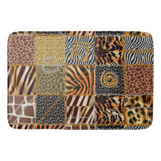 Safari patchwork Large Bath Mat