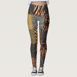 Safari patchwork Leggings