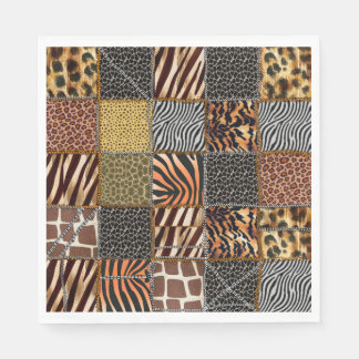 Safari patchwork Paper Napkins