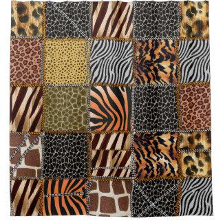 Safari patchwork Shower Curtain