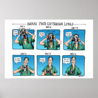 Safari Photo Enthusiasm Levels Poster
