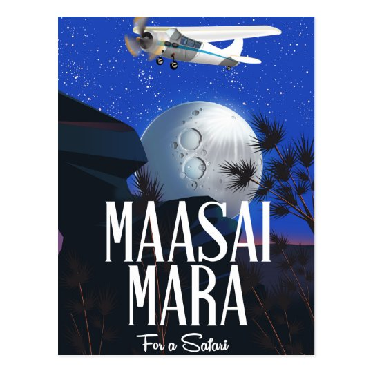 Safari poster to Massai Mara  , Kenya! Postcard