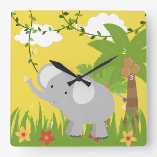 Safari Square Wall Clock