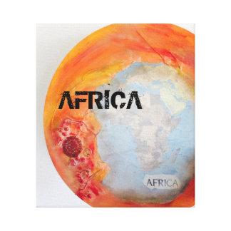 Safari sunset- Africa canvas print