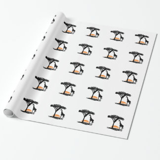 SAFARI SUNSET WRAPPING PAPER