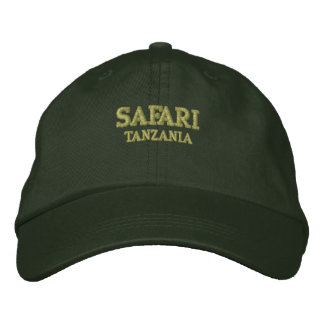 Safari Tanzania Embroidered Hat