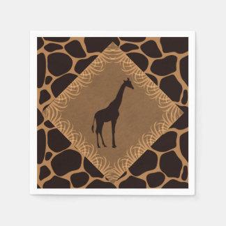 Safari Theme Giraffe Disposable Serviettes